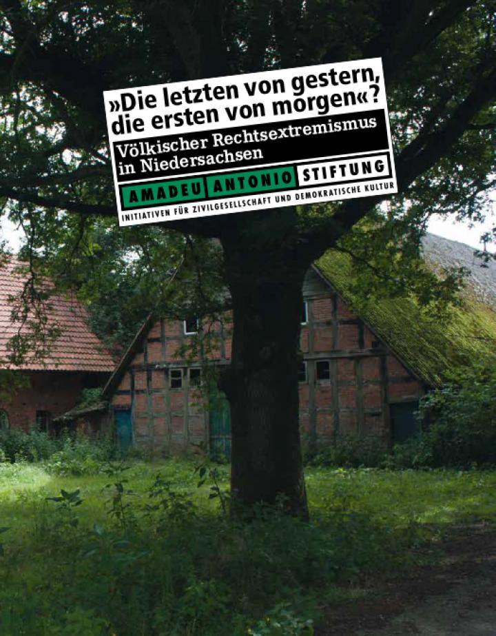 """Cover-Abbildung """"Völkischer Rechtsextremismus in Niedersachsen"""", Amadeu Antonio Stiftung"""