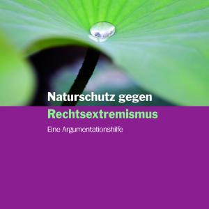"""Cover-Abbildung """"Naturschutz gegen Rechtsextremismus"""", Landeszentrale für Umweltaufklärung Rheinland-Pfalz"""