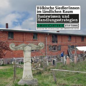 """Cover-Abbildung """"Völkische Siedler im ländlichen Raum"""", Amadeu Antonio Stiftung"""